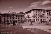 """The sculpture of """"La Regenta"""" at the """"Alfonso II"""" plaza"""
