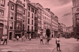 People walking in one Oviedo´s boulevard