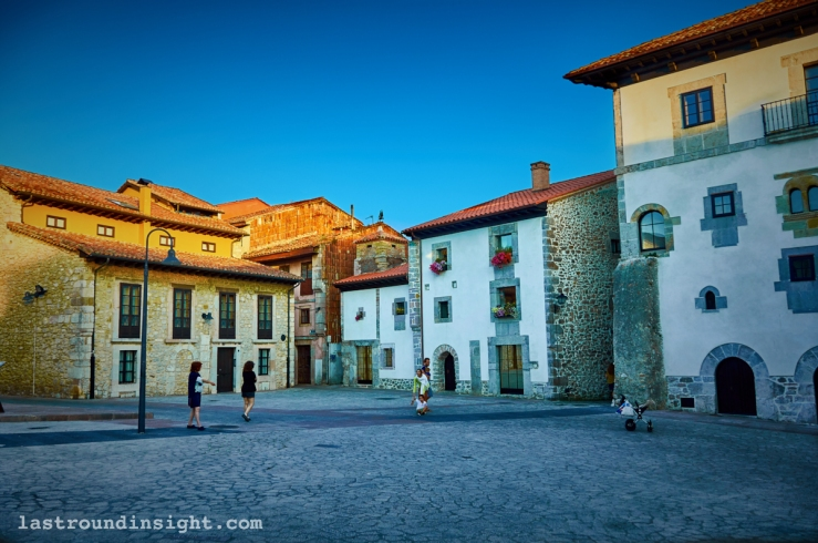 Scene of Llanes in Asturias, Spain.