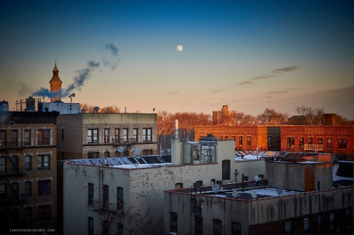 Washington Heights rooftops. December 31, 2017. New York City. Nikon D90