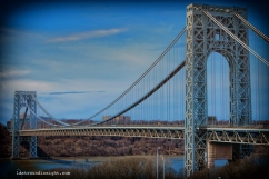 George Washington Bridge, close to home, in Manhattan.